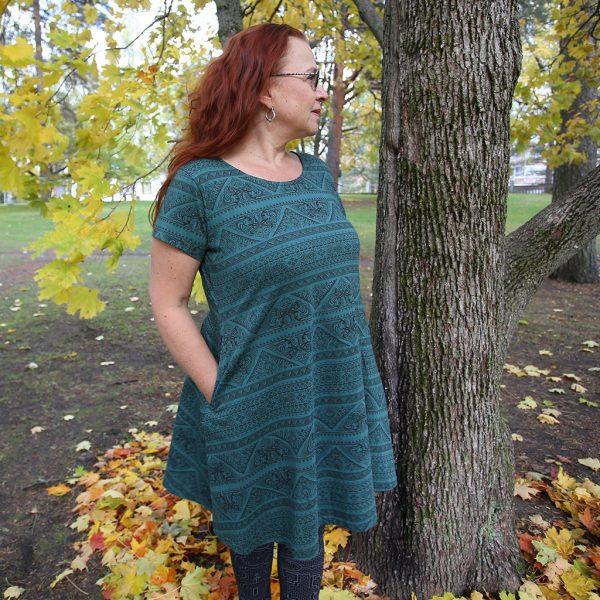 Taskutunika/mekko Sajina vihreä.jpg